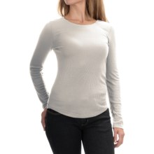 Cable & Gauge Ribbed Layering Shirt - Long Sleeve (For Women) in Ivory - Overstock