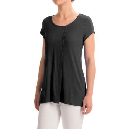 Cable & Gauge Sport High-Low Shirt - Viscose, Short Sleeve (For Women) in Black - Closeouts