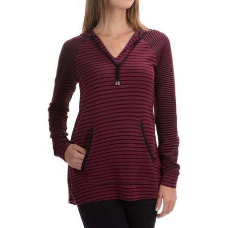 Cable & Gauge V-Neck Hoodie (For Women)
