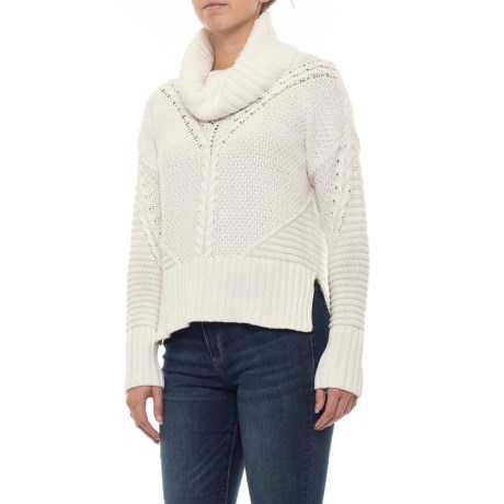 Image of Cable Knit Cowl Neck Sweater (For Women)