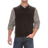 Cable-Knit Sweater Vest - Sleeveless (For Men)