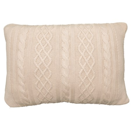 Image of Cable-Knit Throw Pillow - 16x24?