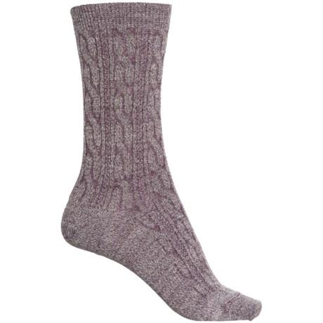 Cable Socks - Merino Wool, Crew (For Women) - BORDEAUX (L ) -  SmartWool