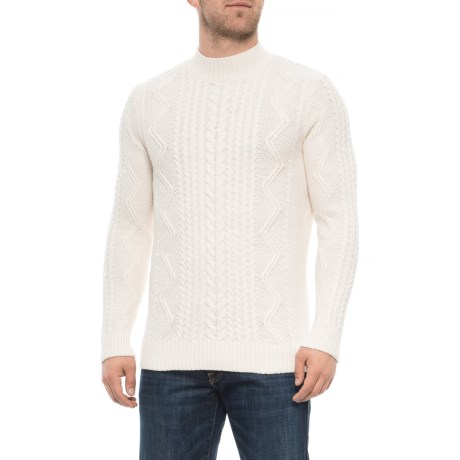 Image of Cable-Stitch Mock Neck Sweater (For Men)