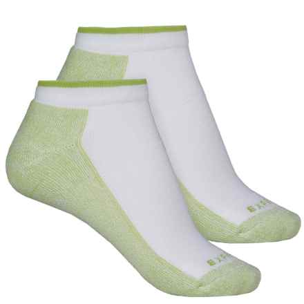 Cabot & Sons CoolMax® Protreds Socks - 2-Pack, Below the Ankle (For Women) in White/Lime - Overstock