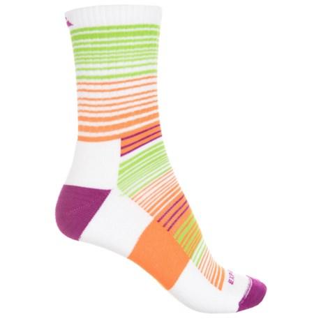 Cabot & Sons CoolMax® Stripes Active Socks - Quarter Crew (For Women) in White