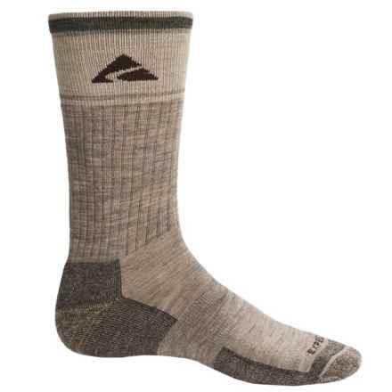 Cabot & Sons Hiking Socks - Merino Wool, Crew (For Men) in Light Brown Mix - Overstock