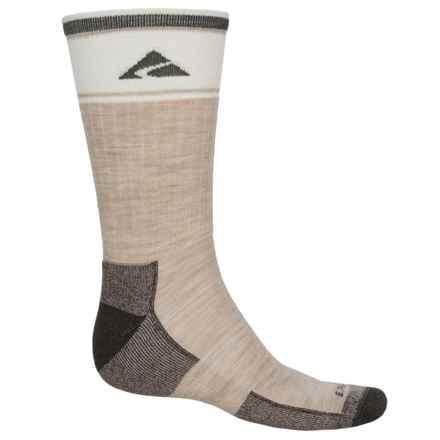 Cabot & Sons Hiking Socks - Merino Wool, Crew (For Men) in Oatmeal - Overstock