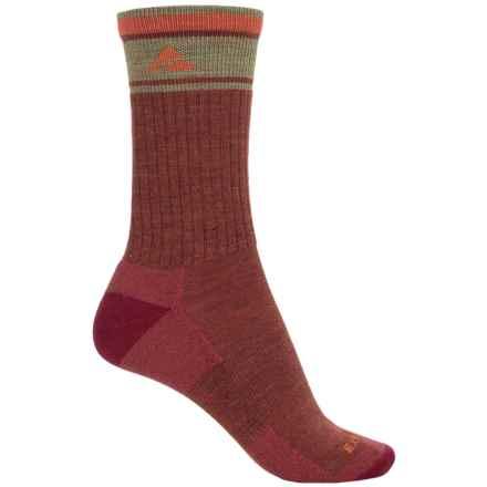 Cabot & Sons Hiking Socks - Merino Wool, Crew (For Women) in Burgundy - Overstock