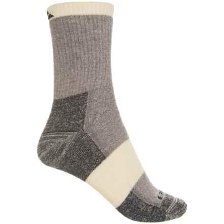 Cabot & Sons Hiking Socks - Merino Wool, Crew (For Women) in Light Gray - Overstock