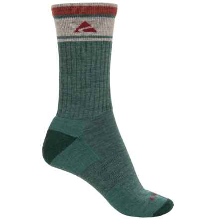 Cabot & Sons Hiking Socks - Merino Wool, Crew (For Women) in Teal Heather - Overstock