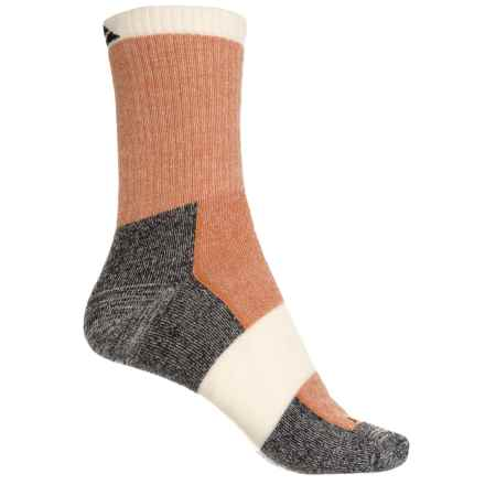 Cabot & Sons Hiking Socks - Merino Wool, Crew (For Women) in Texas Orange - Overstock