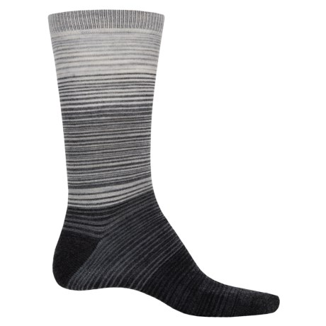Cabot & Sons Hombre Stripes Socks - Merino Wool, Crew (For Men) in Charcoal