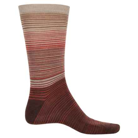 Cabot & Sons Hombre Stripes Socks - Merino Wool, Crew (For Men) in Henna - Closeouts