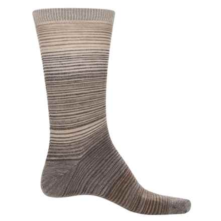 Cabot & Sons Hombre Stripes Socks - Merino Wool, Crew (For Men) in Light Brown Mix - Closeouts