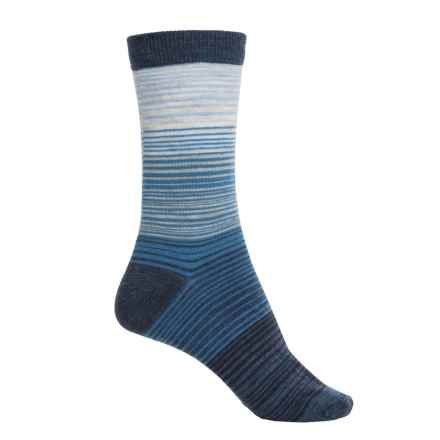 Cabot & Sons Hombre Stripes Socks - Merino Wool, Crew (For Women) in Denim - Closeouts