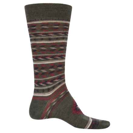 Cabot & Sons Inca Blanket Socks - Merino Wool, Crew (For Men) in Forest - Closeouts