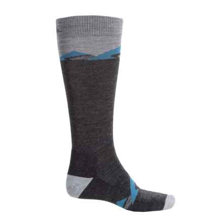 Cabot & Sons Mountain Ski Socks - Merino Wool, Over the Calf (For Men) in Charcoal - Closeouts