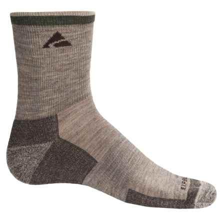 Cabot & Sons Trail Socks - Merino Wool, Quarter Crew (For Men) in Light Brown Mix - Overstock