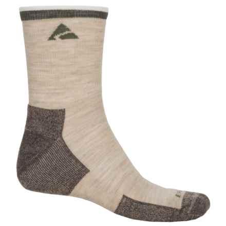 Cabot & Sons Trail Socks - Merino Wool, Quarter Crew (For Men) in Oatmeal - Overstock