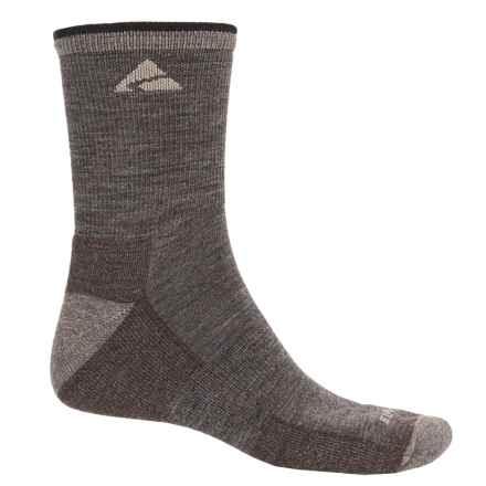 Cabot & Sons Trail Socks - Merino Wool, Quarter Crew (For Men) in Taupe - Overstock