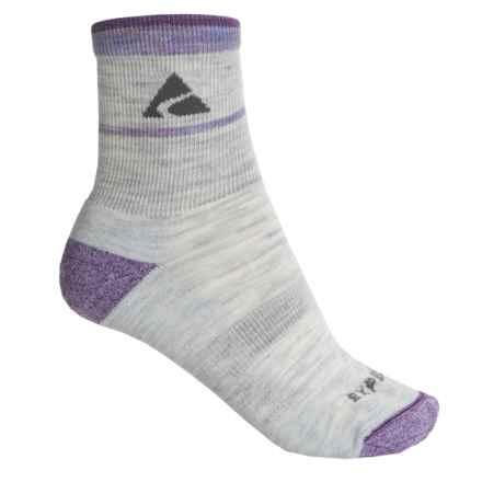 Cabot & Sons Trail Socks - Merino Wool, Quarter Crew (For Women) in Ash - Overstock