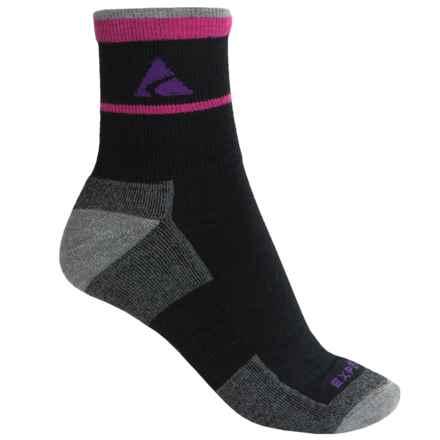 Cabot & Sons Trail Socks - Merino Wool, Quarter Crew (For Women) in Black - Overstock