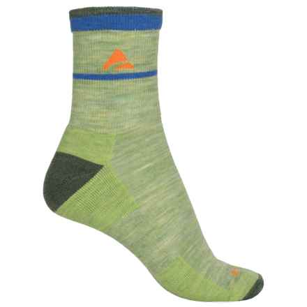 Cabot & Sons Trail Socks - Merino Wool, Quarter Crew (For Women) in Cactus - Overstock