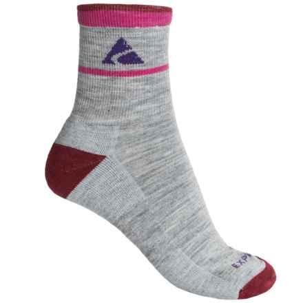 Cabot & Sons Trail Socks - Merino Wool, Quarter Crew (For Women) in Light Grey - Overstock