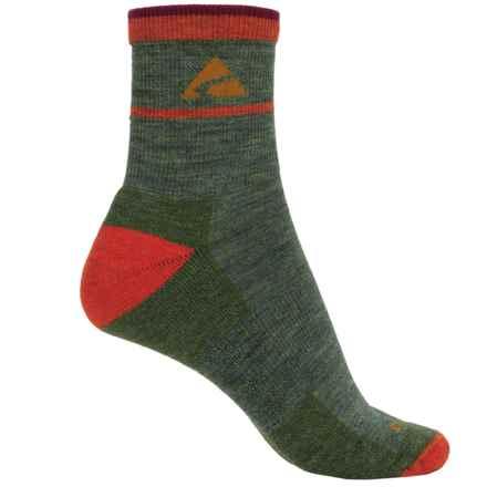 Cabot & Sons Trail Socks - Merino Wool, Quarter Crew (For Women) in Moss Heather - Overstock