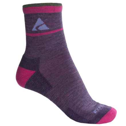 Cabot & Sons Trail Socks - Merino Wool, Quarter Crew (For Women) in Plum - Overstock
