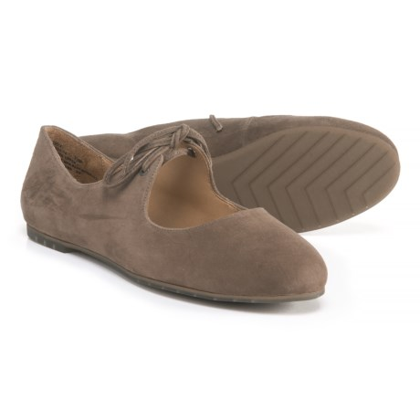 Image of Cacey Tie Ballet Flats - Suede (For Women)