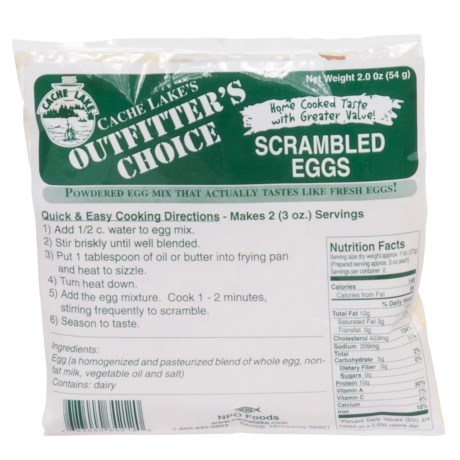 Cache Lake Outfitter's Choice Scrambled Eggs - 2 Servings in See Photo