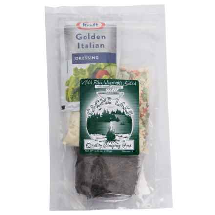 Cache Lake Wild Rice Vegetable Salad with Italian Dressing - 2 Servings in See Photo - Closeouts
