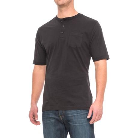 Cactus Henley Shirt - Short Sleeve (For Men) in Black
