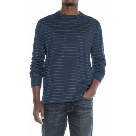 Cactus Jersey Crew Neck Shirt - Long Sleeve (For Men) in Navy - Closeouts