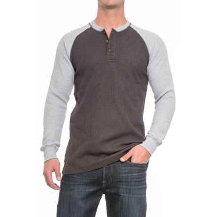 Cactus Thermal Henley Shirt - Long Sleeve (For Men) in Charcoal Heather/Grey Heather - Closeouts