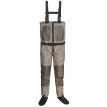 Caddis Northern Guide Zipper Waders - Stockingfoot (For Men) in Tan/Brown - Closeouts