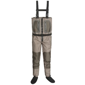 Caddis Northern Guide Zipper Waders - Stockingfoot (For Men) in Tan/Brown
