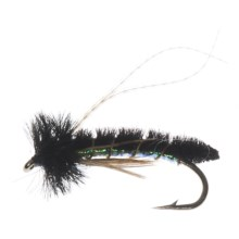 Caddis Poopah Nymph Fly - Dozen in Black - Closeouts