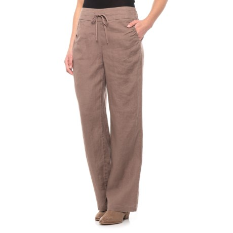 Image of Caffeine Solid Drawstring Waist Pants (For Women)