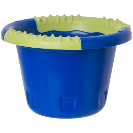 Caitec Busy Bucket Dog Toy in Blue/Green