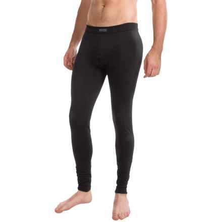 Calida Activity Base Layer Pants - Stretch Cotton (For Men) in Black - Closeouts