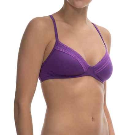 Calida Allure Lace Bra - Cotton Jersey (For Women) in Purple Cornflower - Closeouts