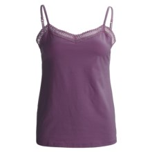 Calida Allure Lace Camisole - Stretch Cotton, Spaghetti Strap (For Women) in Sweet Grape - Closeouts