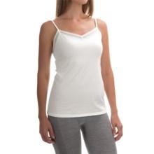 Calida Allure Lace Camisole - Stretch Cotton, Spaghetti Strap (For Women) in White - Closeouts