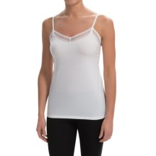 Calida Allure Lace Tank Top - Stretch Cotton Jersey (For Women) in White - Closeouts