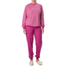 Calida Appetizer Pajamas - Long Sleeve (For Women) in Pink Petunia - Closeouts