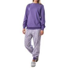 Calida Appetizer Pajamas - Long Sleeve (For Women) in Purple Opulance - Closeouts
