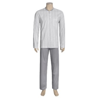 Calida Atlantic Pajamas - Long Sleeve (For Men) in Smoke